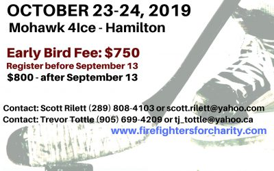 Get your teams ready! 5th Annual Hamilton Fire Fighters Charity Hockey Tournament coming this October! Registration open!