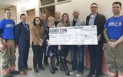 HPFFA Donates to Hamilton General Hospital