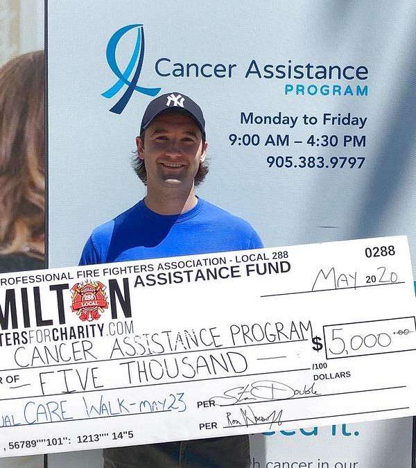 HPFFA Donates & Walks for Cancer Assistance Program