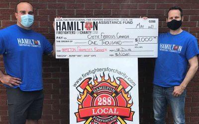 HPFFA Supports Hamilton Paramedics fundraiser for Cystic Fibrosis